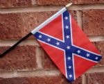 HAND WAVING FLAG (SMALL) - Confederate